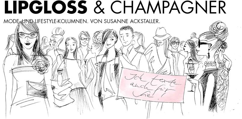 Lipgloss & Champagner